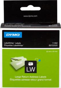 *ORIGINAL 2x DYMO Label Writer Etiketten S0722520 11352 selten 25x54mm NEU*