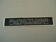 Green Bay Packers Super Bowl 2 Nameplate for a Football Jersey Case 1.5 X 8