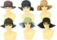 Vintage Womens Straw Hats Summer Beach Retro 90s Job Lot Wholesale x20 -Lot672