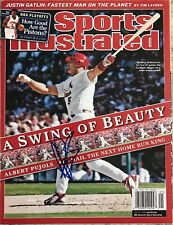 Albert Pujols Signed St. Louis Cardinals No Label Sports Illustrated w/PROOF COA