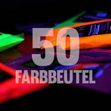 50 x NEON Holi Pulver Festival Farbbeutel Fotoshooting Faben LEUCHTEN UV