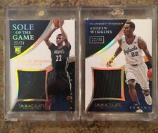 Andrew Wiggins 22/23 Jersey Number 1/1 Rookie RC 2014-15 Immaculate 2 Shoe Cards