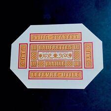 Rare 1910 Etiquette Boite Miniature Échantillon Gaufrette Lu Chromolithographie