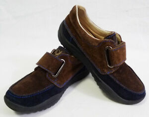Naturino Brown & Navy Blue Suede Boys Loafers size 29 (12.5)