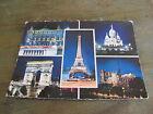 ancienne carte postale CPSM Paris la nuit multi vues