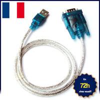 CABLE ADAPTATEUR CONVERTISSEUR USB VERS RS232 DB9