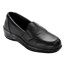 Orthofeet Women's Astoria Therapeutic Slip On Leather Loafer Black Sz: 5 M