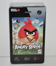 """Angry Birds Men's Size Small Cotton Boxers 28""""-30"""" Waist in Tin Gift Box New"""