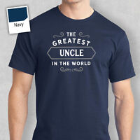 Uncle Happy Birthday t shirt Gift Present Personalised Greatest Love tee Tshirt