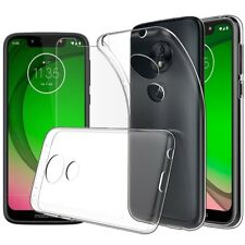 for Motorola Moto G7 Play Case Clear Slim GEL Cover & Glass Screen Protector