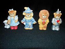 4 Lucy & Me Bears By Enesco Wizard Of Oz Set Dorothy Tin Man Scarecrow Lion 1989