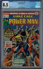 CGC 8.5 POWER MAN #17 1ST ISSUE WAS HERO FOR HIRE LUKE CAGE