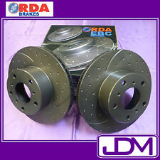 Rear SLOTTED & DIMPLED Brake Discs to suit Falcon BA, BF, XR6, XR8
