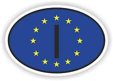 OVAL EUROPEAN UNION FLAG CON I Codice paese ADESIVO ITALIA ITALIA MOTO AUTO