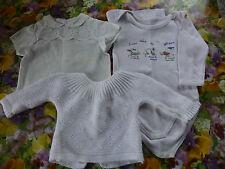 3 mois , 3 pièces , le lot blanc , bébé ou oupon  colin,raynal,snf vintage !!