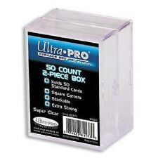 (2-Pack) Ultra Pro 2 Piece Plastic Card Storage Box (50 Count Size) Slider Box