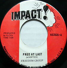 FREEDOM GROUP 45 Free At Last IMPACT! Label REGGAE #A932