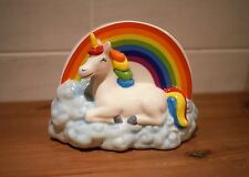 CERAMIC RAINBOW ENCHANTED UNICORN MONEY BOX BANK GIFT ORNAMENT FOR GIRLS PONY