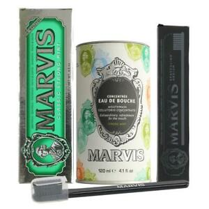 Marvis Mouthwash, Classic Mint Toothpaste & Black Toothbrush DEAL - UK STOCKIST
