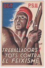 More details for spain spanish civil war u.g.t. p.s.u. iconic republican propaganda pc - sp21
