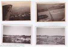 Original Foto 4 Fotos Luftaufnahmen Dnepr, Smolensk und Ostpreussen