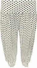 Pantaloni da donna, taglia comoda media bianca