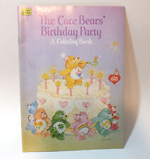 The Care Bears Birthday Party Coloring Book 1984 Funshine Wish Pizza Hut Promo