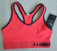 Under Armour Women's Armour Mid Sports Pink Bra - Size XS - NWT - MSRP$24.99