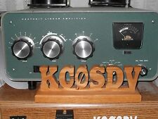 PERSONALIZED HANDCRAFTED OAK AMATEUR RADIO, HAM, GMRS, CALL SIGN- FREE SHIPPING