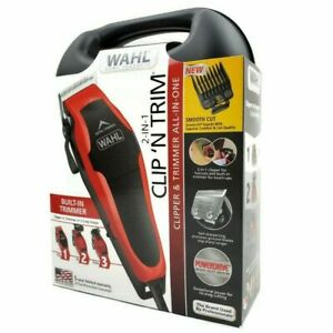 Wahl Clipper Clip 'N Trim 20 Piece Haircutting Kit All in 1 Built In Trimmer