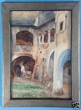 Aquarell Gemälde Gehöft Weißenkirchen Wachau Österreich Prof. Richard Lipps~1910