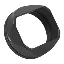 Haoge LH-X54B Square Lens Hood with 49mm Adapter for Fujifilm Fuji X100V Camera