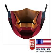 Ironman Face Mask Washable Ear Buckle Adjustable Superhero US Seller Fast Ship