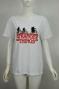 Womens Girls Stranger Things Top Vest Summer Casual T Shirt Pullover Top White