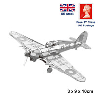 Hawker Hurricane 3D Laser Cut Metal Model Kit Puzzle