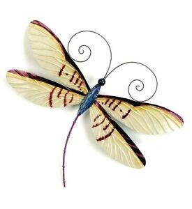 Dragonfly w/purple highlights capiz finish metal wall art home decor