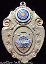 Old WO PE NA ARCHERY Medallion Enamel Ornate Detailing Sports Award Medal