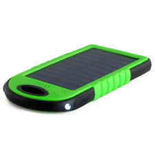 Solar charger Power bank 18500mWh Solar panel 1.2W Li-Poly LED Green PowerNeed
