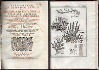 Dizionario universale delle arti e scienze. Tomo 1 + 2 - Giorgio Lewis - 1762