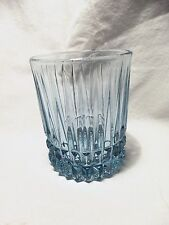 *NEW* set 4 vintage FOSTORIA light blue crystal glass HERITAGE dof rock GLASSES