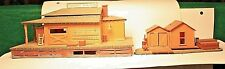 HO Freight Station & Hand Car Shed assembled No Original Box