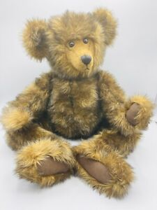 """Large 25"""" Brown Mohair Teddy Bear w Growler Jointed Heavy Steiff? Well Made"""
