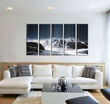 Waterfall print on canvas, wall décor, waterfall canvas print, 5 panel prints