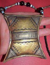 Tuareg Talisman Tcherot Pendant Necklace, Protective African Amulet Niger Africa