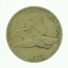 1857 US Flying Eagle One Cent XF Coin Currency