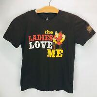 "Disney Parks Men's T Shirt Gaston Tavern ""The Ladies Love Me"" Brown Size Med"