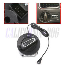 Chrome AUTO Headlight Switch + Light Sensor Module For VW Golf 6 Passat B6 Jetta