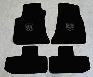 Autoteppich Fußmatten für Dodge Challenger 2008-2013 Velours sw Anthrazit 4tlg.