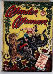 Wonder Woman # 9 (GD+, 1944, Golden Age, Comic)