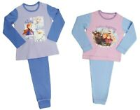 Girls Disney Frozen Pyjamas Elsa Anna Olaf Pyjamas 18 Months - 10 Years